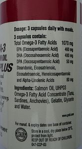 GNLD Omega 3 Salmon Oil Plus provides all 8 members of the omega 3 family