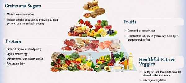 Dr Mercola's food pyramid