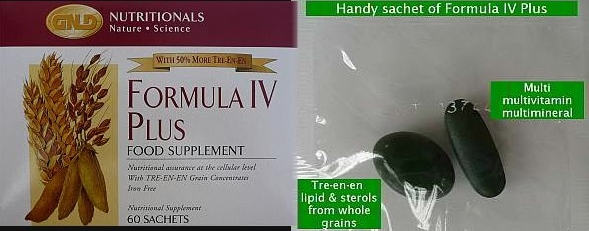 GNLD Formula IV Plus box and sachet