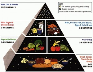 USDA food pyramid from 1992
