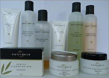 GNLD Nutriance Skincare and Haircare products we use